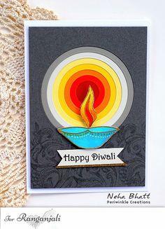 Inspiration: Ranganjali Diwali Stamp Sets | Ranganjali Craft Supply Store I Diy Diwali Cards, Diwali Card Making, Diwali Greeting Cards, Diy Diwali Decorations, Diwali Greetings, Diwali Diy, Diwali Craft, Happy Diwali, Greeting Cards Handmade