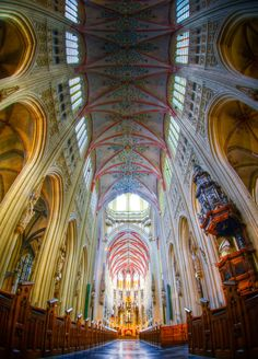 Sint-Jan cathedral of 's-Hertogenbosch, Netherlands.