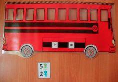 Con este autobús de sumas y restas podrás practicar en casa o en clase las primeras operaciones con números menores que 10.