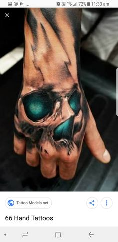50 Hand Tattoo Designs for Men - Masculine Ink Ideas - .- 50 Hand Tattoo Designs for Men – Masculine Ink Ideas – Tatoo 50 Hand Tattoo Designs for Men – Masculine Ink Ideas – Tatoo - 3d Tattoos, Badass Tattoos, Great Tattoos, Skull Tattoos, Trendy Tattoos, Body Art Tattoos, Sleeve Tattoos, Tatoos, Biker Tattoos