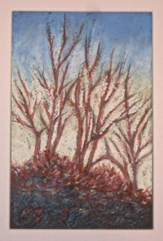 Sennelier Oil Pastels, Acrylic Box, Early Spring, Painting & Drawing, Art Work, Backyard, Sky, Drawings, Illustration