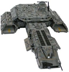 The Daedalus, from Stargate, in Lego.