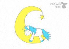 Weiteres - Mond-Einhorn Plotterdatei - ein Designerstück von monsta-bella bei DaWanda