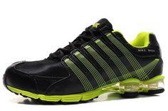 90947894b80 Nike Shox R4 - Black Green Cushion5 Mens Nike Shoes Cheap