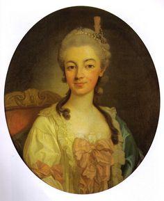 Portrait de Teresa Poniatowska, née von Weichnitz und Tettau, 1767 Per Krafft l'aîné