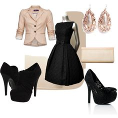 """""""wedding guest in winter"""" by lkuhn23 on Polyvore"""