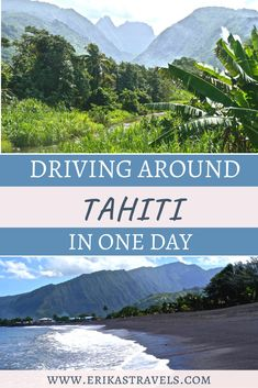 What to see on a drive around the island of Tahiti. Visit the top things to do in Tahiti on a one day itinerary to the largest island in French Polynesia. Beach Vacations, Vacation Destinations, Tahiti Islands, Tahiti French Polynesia, Holiday Places, New Zealand Travel, Most Beautiful Beaches, Beautiful Islands, Places Around The World