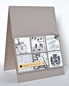 Stampin' Up ideas and supplies from Vicky at Crafting Clare's Paper Moments: Three minute grid card using DP