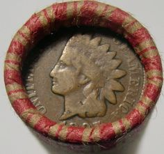 UNSEARCHED WHEAT ROLL PDS + 1897 INDIAN CENT + 1907 INDIAN CENT + 3 BONUS COINS