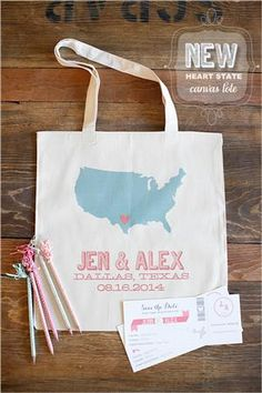 Welcome Wedding Gift Bags  Bottles of water  Mints  thank you note  California Map  Door Hang  Dried Cherries  Band Aids  Ear Plugs  Granola Bar