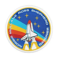 STS-27 PATCH PAPER PLATE - decor diy cyo customize home