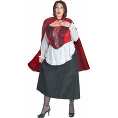 Adult Plus Size Red Riding Hood Costume