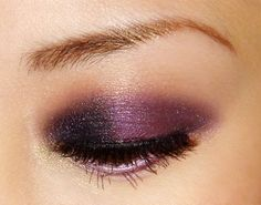 Smoky eye with plum color...my favorite way to wear eye shadow right now!
