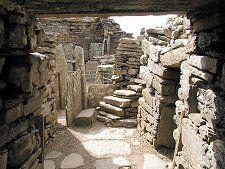 Entering the Broch of Gurness , Scotland