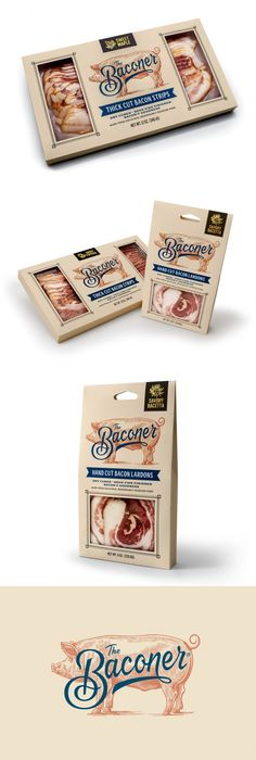 Baconer is An Artisanal Brand Bringing Home The Bacon is part of Sausages packaging, Food packaging design, Organic pack Organic Packaging, Cool Packaging, Food Packaging Design, Coffee Packaging, Brand Packaging, Branding Design, Bottle Packaging, Label Design, Package Design