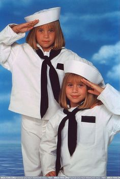 Mary Kate and Ashley Olsen, when the basically were babies!