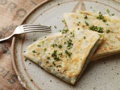 French Crepes With Spinach and Feta