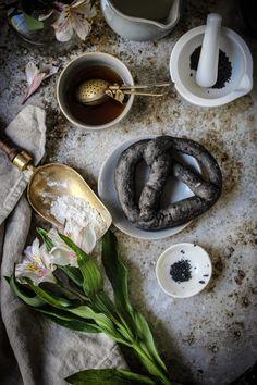 cuttle fish ink pretzels with black hawaiian salt @twiggstudios