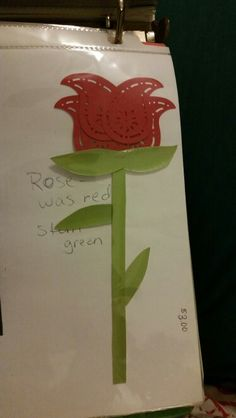 Rose made from creative memories cutter