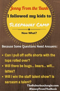 Jenny From the Bunk is Going Back to Camp and Answering the Super Important Questions! #JennyFromtheBunk #camp #sleepaway #summer Humor funny mom
