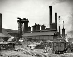 """Birmingham, Alabama, circa 1906. """"Sloss City furnaces."""" Four years later, our site's namesake, Shorpy Higginbotham, would be wo..."""