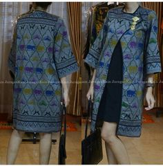 Batik Blazer, Blouse Batik, Model Dress Batik, Batik Dress, Batik Kebaya, Kebaya Dress, Muslim Fashion, Ethnic Fashion, Traditional Fashion
