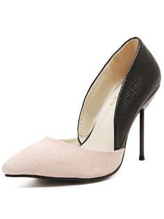 Nude Black Stiletto High Heel Wedding Pumps 32.33