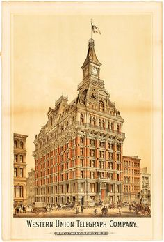 "That ""costly folly,"" the Western Union Telegraph Building, 195 Broadway, in about 1875."