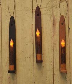 1296 Simple Primitive Wood Taper