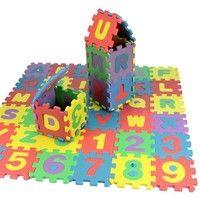 Wish | children mini EVA Foam Alphabet Letters Numbers Floor Soft Baby Mat 3d puzzle Kids Educational toys 36 pcs