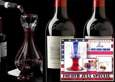 Wine Aeration Decanter & American Wine Fourth July Special #wineaerator