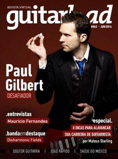 Paul Gilbert - Guitarload Magazine Cover [Brazil] (June 2014)