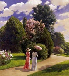 Pal Szinyei Merse: In the park Gifs, Colorful Paintings, Pictures To Paint, New Artists, How Beautiful, Art Education, Art History, Victor Hugo, Original Paintings