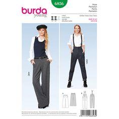 Burda Pattern 6856 Women's Pants Vogue Patterns, Burda Sewing Patterns, Clothing Patterns, Burda Couture, Trousers Women, Pants For Women, Women's Trousers, Ladies Pants, Marlene Dietrich