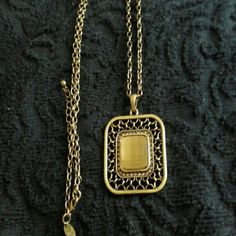 Selling this Gold necklace with gorgeous square pendant. in my Poshmark closet! My username is: mrswhite2014. #shopmycloset #poshmark #fashion #shopping #style #forsale #Lia Sophia #Jewelry