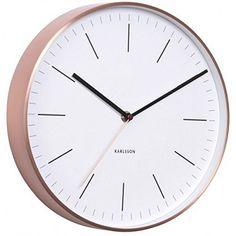 Wandkings Wanduhr SOLO CLOCK mit Uhrwerk & Uhrzeigern (Farbe: Uhr ...