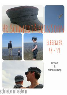 The Elbsegler is a simple, low sailor's cap, originally worn by sailors in the north of Germany. Sewing For Kids, Baby Sewing, Schmidt, Little Babies, Baby Kids, Sailor Cap, Patterned Sheets, Father And Son, Digital Pattern