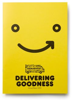OzHarvest Logo on Annual Report Cover | Print and Layout Design