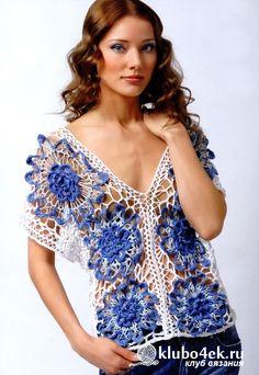 Crochet lace top * da uncinetto d'oro: molti progetti, tutti con schema e modello *