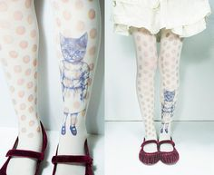 cat tattoo tights