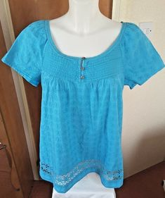 M/&S Collection Embellished Stretch TURQUOISE Tunic Top Plus Size 24 Blouse