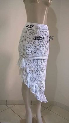 Captivating Crochet a Bodycon Dress Top Ideas. Dazzling Crochet a Bodycon Dress Top Ideas. Crochet Bodycon Dresses, Crochet Skirts, Knit Skirt, Crochet Clothes, Knit Dress, Mode Crochet, Crochet Lace, Crochet Tops, Crochet Skirt Pattern