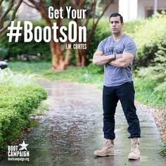 J.W. Cortes - Boot Campaign - US Marine - Give Back - Combat Boots - Gotham - Street Style - Patriotism