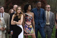 Elizabeth Gillies, Wakeema Hollis and Sam Adegoke in Dynasty 2017 Series (9)