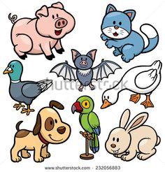 Vector illustration of Animals cartoon - stock vector