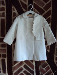 White Vintage French Girl's Coat- Size 5/6 Years