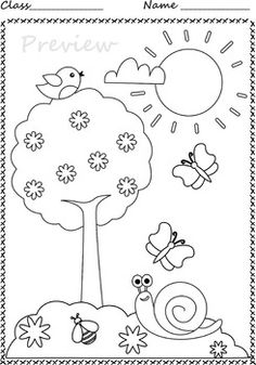 Spring Coloring Pages Space Coloring Pages, Fruit Coloring Pages, Spring Coloring Pages, Pattern Coloring Pages, Printable Adult Coloring Pages, Coloring Pages For Girls, Coloring Books, Spring Drawing, Spring Art