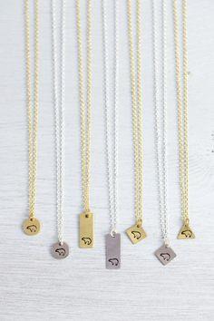 Tiny Zuni Bear Necklace - Little Zuni Bear Necklace - Hand Stamped Bear Pendant - Adventure Necklace - Gold/Silver Small Zuni Bear Necklace
