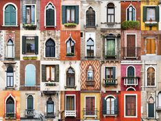 """Portuguese photographer André Gonçalves started out taking snapshots of colorful windows in his native Évora; his """"Windows of the World"""" project has since grown—and gone viral. Gonçalves spoke to Conde Nast Traveler about the windows that inspire. House Windows, Windows And Doors, Building Windows, Mundo Design, Beach House Style, Travel Around The World, Around The Worlds, Photo Window, Goncalves"""