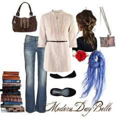 minus that eskimo purse Disney Bound Outfits, Disney Inspired Outfits, Disney Style, Themed Outfits, Hipster Belle, Modern Princess Outfits, Cool Outfits, Casual Outfits, Amazing Outfits
